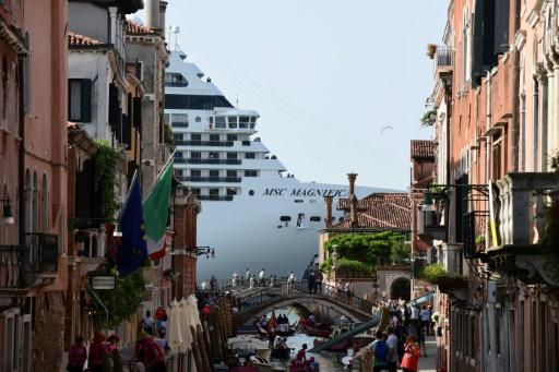 Le paquebot de croisière géant MSC Magnifica le 9 juin 2019 à Venise © AFP/Archives Miguel MEDINA