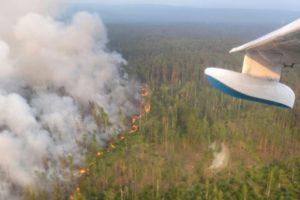 Photo aérienne prise le 30 juillet 2019 d'un feu de forêt dans la région de Krasnoïarsk, en Sibérie © press-service of Russia's Krasnoyarsk Krai's forestry ministry/AFP HO