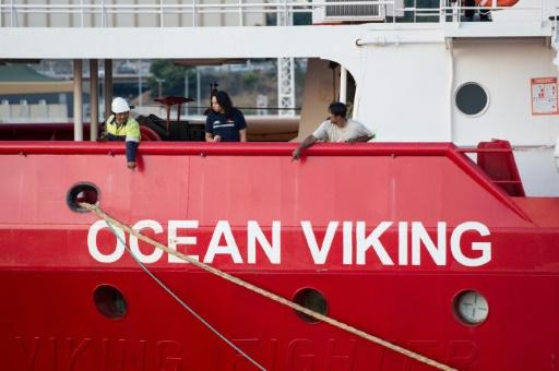 Le bateau humanitaire de SOS Méditerranée et Médecins sans Frontières, l'Ocean Viking, dans le port de Marseille, le 4 août 2019 © AFP CLEMENT MAHOUDEAU