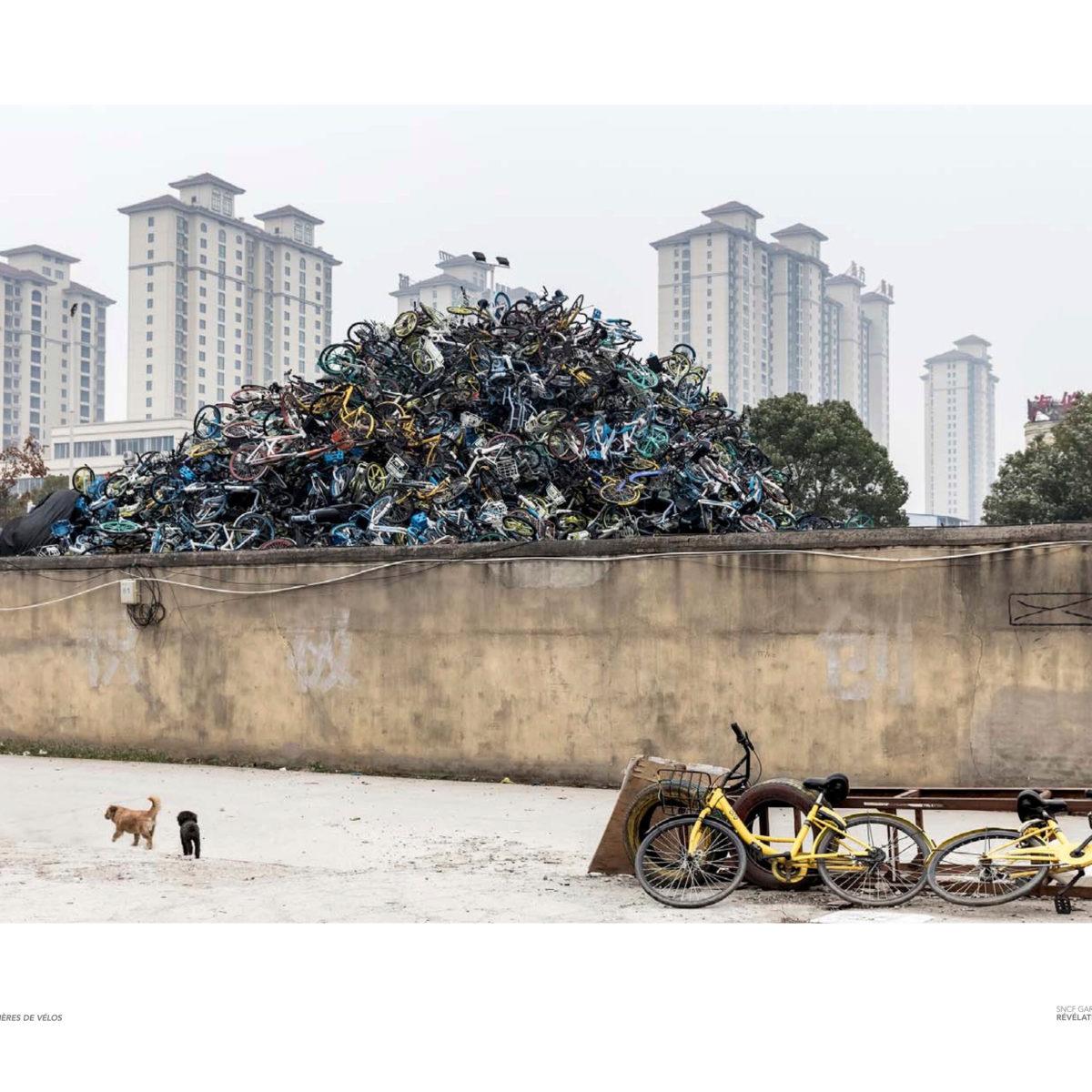 Wu Guoyong velo libre service dehcarge cimetiuere gaspillage
