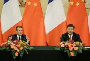 macron et Xi Jinping