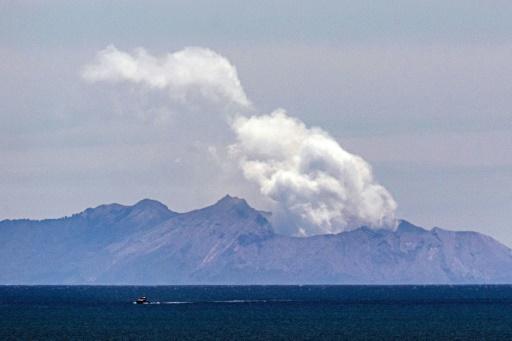 volcan de White Island en Nouvelle-Zélande
