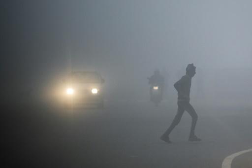 neew delhi brouillard