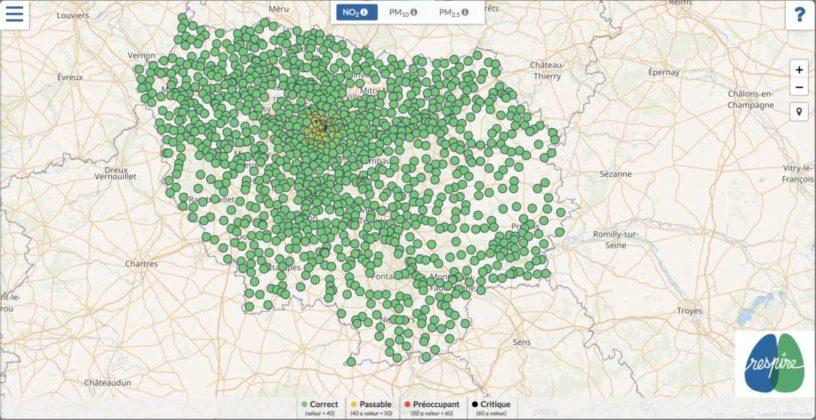 carte pollution ecole ile de france