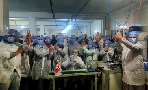 tunisie masque ouvrieres