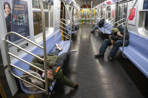 metro new york nuit arret ville malade