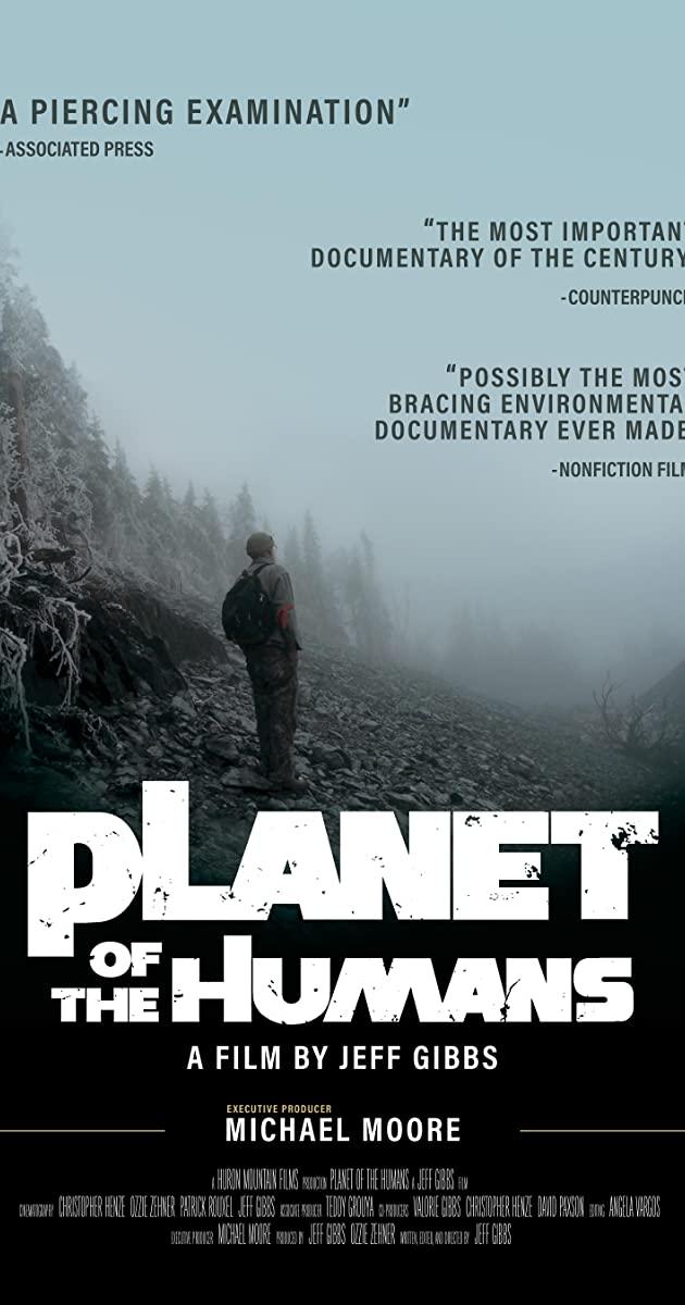 L'affiche de Planet of the Humanes, documentaire produit par Michael Moore DR IMDB