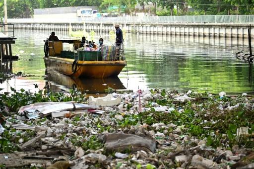déchets plastiques canaux thailande