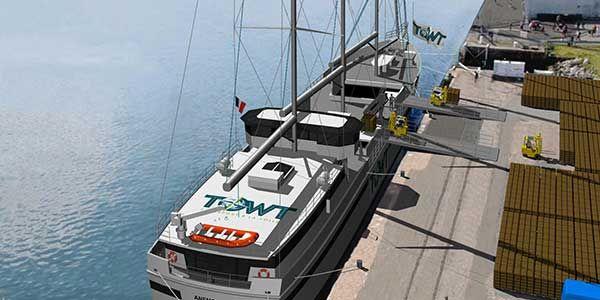 cargo à voile TOWT transport voiliers