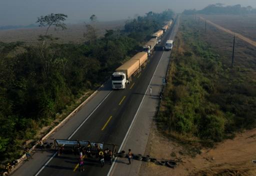barrage route Brésil