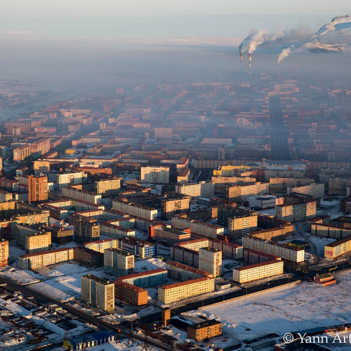 Ville industrielle Sibérie