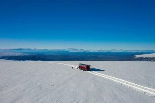 Islande glacier Langjökull bus