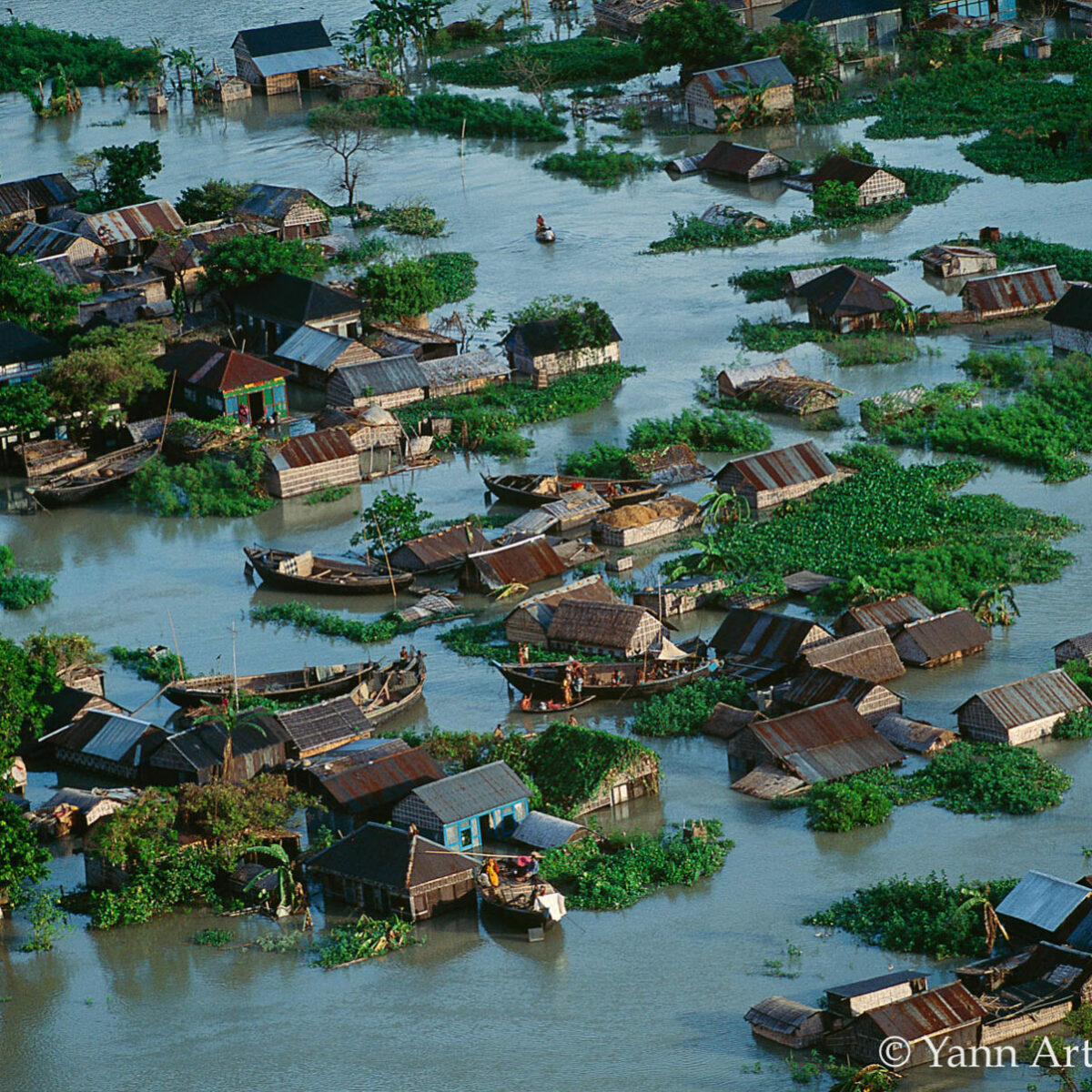 Bangladesh village inondé