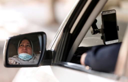 Gaza femme chauffeur taxi