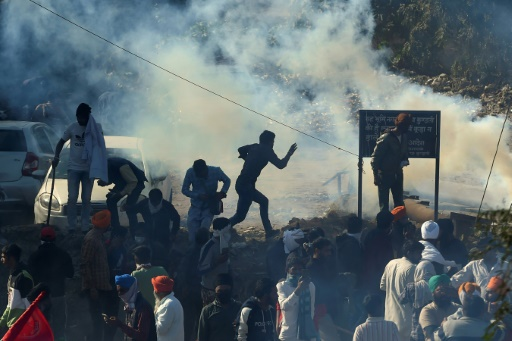 manifestation New Delhi Inde