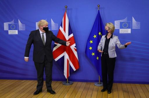 Boris Johnson Ursula von der Leyen UE