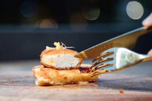 poulet artificiel Singapour restaurant