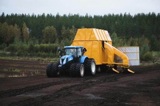 Finlande tourbe tracteur