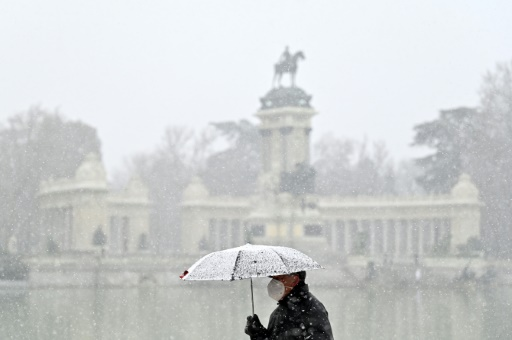 Madrid neige