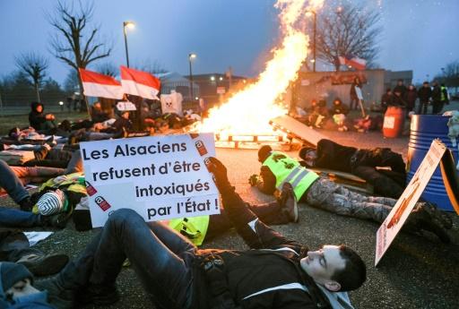 Stocamine Alsace manifestation nucléaire