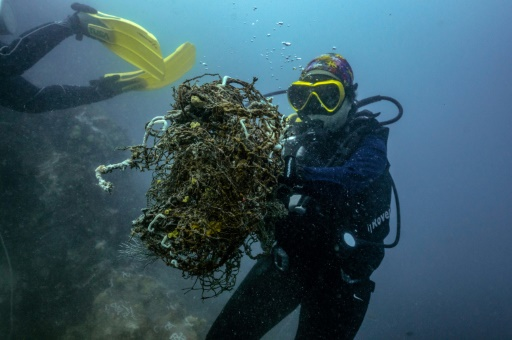 filets pêche pollution plastique