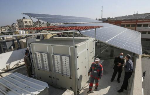 panneaux solaires Gaza Israël