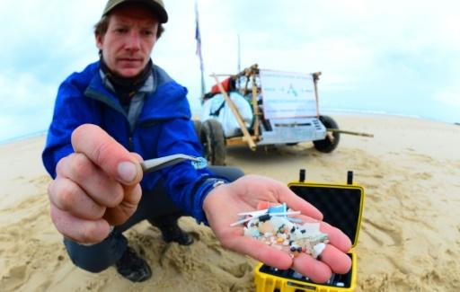 plage pollution plastique France