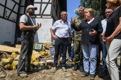 visite merkel sur lieux sinistrés inondations