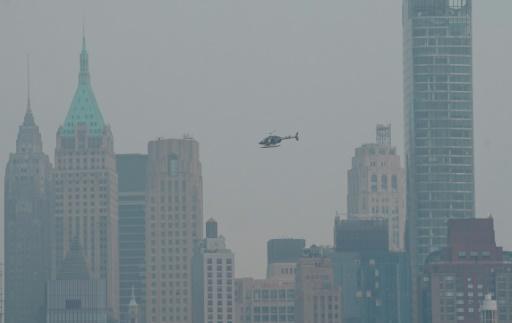 new york pollution nuage fumée ouest