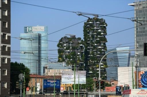 villes passent au vert ferme verticale Milan