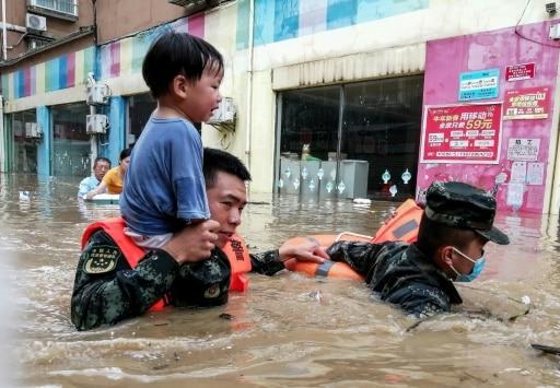 chine inondations sauvetage