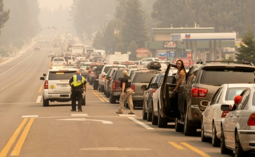 californie évacuation