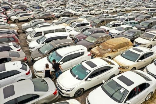 chine voitures inondations