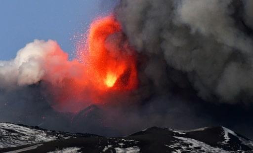 etna volacan éruption haut