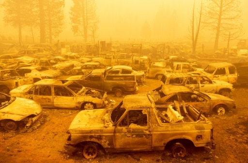 greenville incendies californie détruit ville