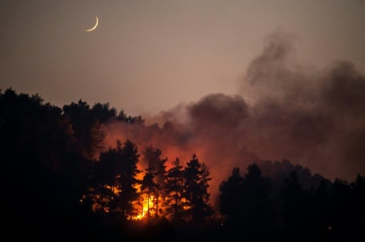 île eubée feux de forêt évacuation