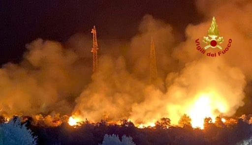incendies italie