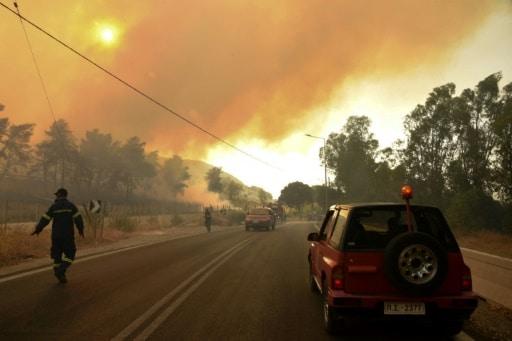 pompiers grèce incendies
