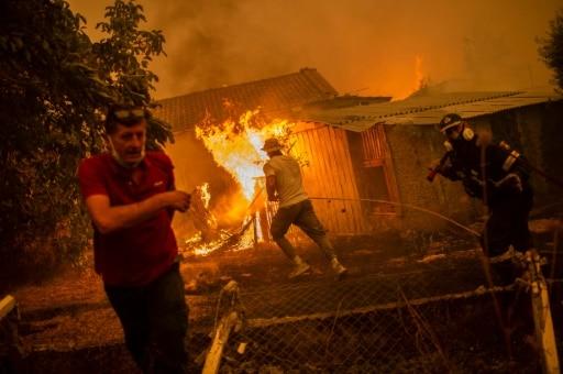 pompiers eubée grèce maitrise