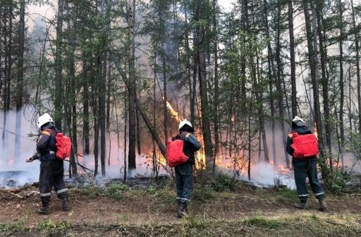 pompiers sibérie incendies poutine