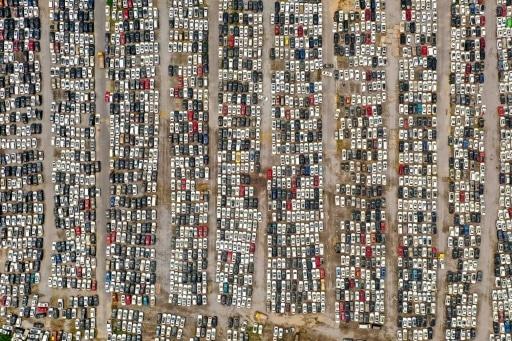 voitures inondations chine