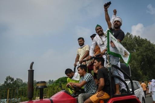 mainifestation agricutlteurs delhi