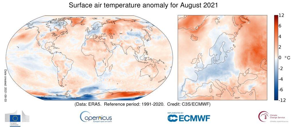 été le plus chaud en europe