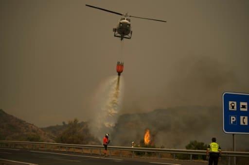 feu de forêt espagne évacuation