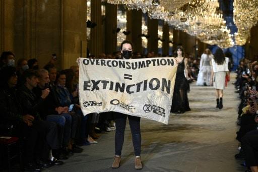extinction rebelion vuiton