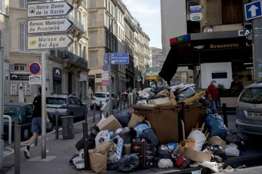 déchets rues marseille