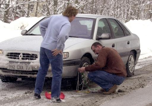 pneu et chaîne hiver